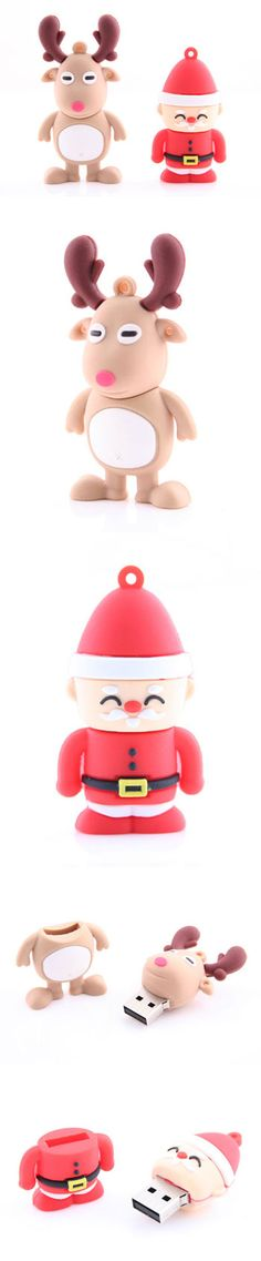 Santa Claus & Reindeer USB Drive http://www.usbgeek.com/products/santa-reindeer-drive