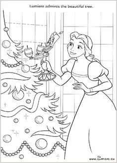 Belle Lumiere Coloring Page Find This Pin And More On