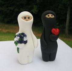 I remember when I first made these! Ninja Love wedding cake topper by theaircastle on Etsy, $160.00