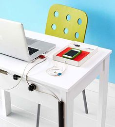 Address the mess behind your desk with fuss-free accessories designed to simplify your life.
