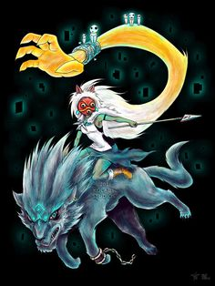 Mononoke Hime & Legend of Zelda Twilight Princess mash-up by