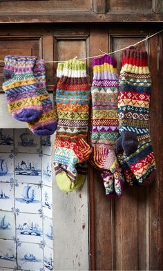 crofter socks... colour and pattern inspiration...