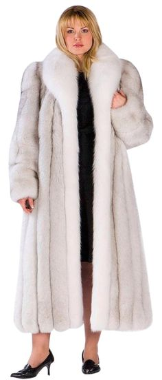 madisonavemall Real Fur Jacket Real Mink Jacket Plus-size Mink Plus-size Fur Jacket Womens Mink Fur Coat White Fur, Blue And White, Mink Jacket, Fox Fur Coat, Gorgeous Women, Jackets For Women, How To Wear, Fur Jackets, Mink Fur
