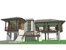 Ideas For House Design Traditional Layout 3 Storey House Design, Two Story House Design, Small House Design, Dream Home Design, Modern House Design, House Layout Plans, Dream House Plans, House Layouts, Small House Plans