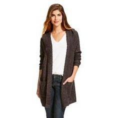 Women's Hooded Car Coat Cardigan - Merona™ grey