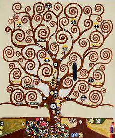 Resultado de imagen para Under the Tree of Life by Gustav Klimt, traducir