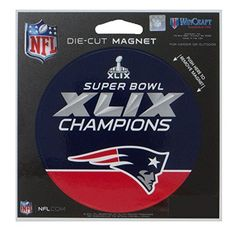 New England Patriots Official NFL 45 inch x 6 inch Super Bowl 49 Champions Die Cut Car Magnet by Wincraft * Want to know more, click on the image.