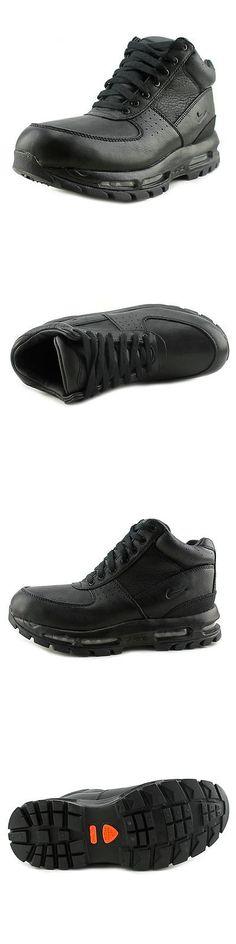 82a9770eaabd ... boys shoes 57929 nike air max goadome acg youth round toe leather black  ...