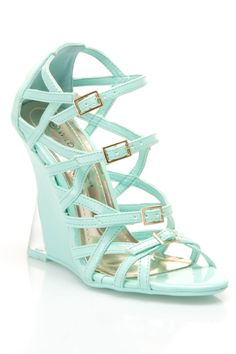 287d175828a7 Fiji Strappy Wedges in Mint - Beyond the Rack