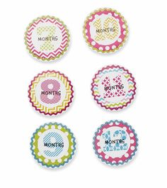 Girl Month Milestone Stickers - Time Your Gift - 3