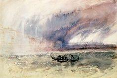 William Turner-Orage sur Venise