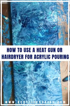 to Use a Heat Gun or Hairdryer for Acrylic Pouring Learn how a heat gun or hairdryer works in acrylic pouring. via how a heat gun or hairdryer works in acrylic pouring. Pour Painting Techniques, Acrylic Pouring Techniques, Acrylic Pouring Art, Art Techniques, Painting Tutorials, Acrylic Painting Tips, Flow Painting, Encaustic Painting, Acrylic Artwork