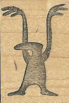 Edward Gorey Kidstamps Shadow Beast rubber stamp