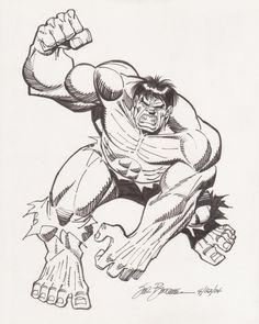 Another Sal Buscema Hulk. I love the energy of the lines and his personal translation of anatomy Hulk Avengers, Hulk Marvel, Marvel Comics, Comic Book Artists, Comic Books Art, Comic Art, First Hulk, Hulk Movie, Sal Buscema