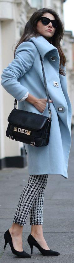 #Pastel #Blue #Coat