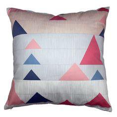 Triangles, cushion and super colour scheme. Definitely a winner!