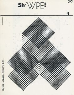 Cover by Ruth Wolf-Rehfeldt for  SH'WIPE #Q  ed. Daniel F.Bradley & Greg Evason. Toronto, Wendysstomack, 28 february 1988.