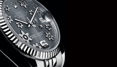 DATEJUST LADY 31: FLORAL MOTIFS - ROLEX Timeless Luxury Watches. Love the flowers