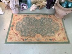 Antique Chinese Rug   5' Wide x 3' Deep   $275  Country Garden Antiques 147 Parkhouse  Dallas, TX 75207