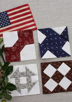 Primitive Quilts, Amish Quilts, Barn Quilts, Hexagon Quilt, Quilt Block Patterns, Quilt Blocks, Mug Rug Tutorial, Dear Jane Quilt, Flannel Quilts