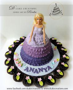Barbie Doll Cake by Rinku #barbiecake #dollcakes #dcakecreations