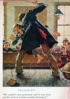norman rockwell for tom sawyer. . .  as a child this would've made me giggle upon seeing it, now as an adult, i find it rather frightening!