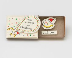Romantic Christmas Card/ Cat Christmas Card/ Love от shop3xu