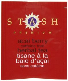 Stash Premium Acai Berry Herbal Tea Bags 100-Count Box is a fruity herbal blend that combines tart hibiscus flowers with natural acai berry, blackberry and blackcurrant flavors for a delicious tea that is also wonderful served chilled over ice.