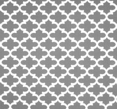 Pewter Grey & White Modern Home Decor Fabric by the Yard, Geometric Drapery or Upholstery Yardage, Designer Cotton Decor and Craft Fabric