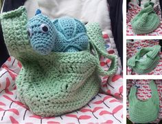 This Aunty Dollie bag is the perfect crochet stroller bag! It is big enough to fit a change of clothes and some nappies, yet not so big that it will make your stroller fall over.