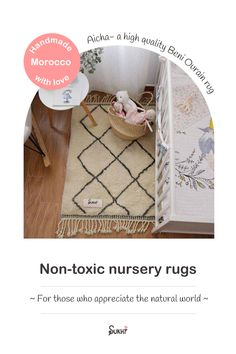 Looking for a rug that's high quality, durable and has so much personality? Our Aicha rug is a handmade Beni Ourain rug from Morocco. It's made from 100% wool and sports a beautiful dark diamond pattern on a neutral off-white colour. It is also completely natural & non-toxic making it the perfect rug for your nursery or kids room. It will add so much comfort & style to any space and will last for years to come. Your kids will love the feel of it under their hands and feet. Free shipping. Kid Friendly Rugs, Slow Design, Nursery Rugs, Moroccan Rugs, Comfort Style, Off White Color, Beni Ourain, Nursery Neutral, Natural Rug