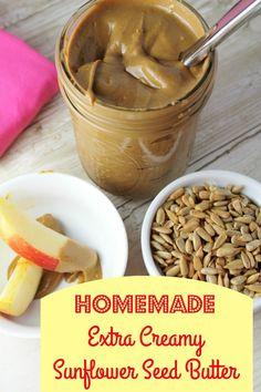 Homemade Sunflower Seed Butter - Extra Creamy