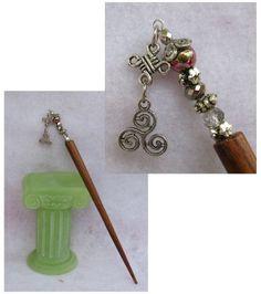 Silver Celtic Triple Spiral Beaded Wooden Hair Stick  http://cgi.ebay.com/ws/eBayISAPI.dll?ViewItem=160970058230