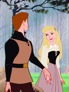 Philip and Aurora. I love the look on her face: she literally just met him and is already in love! <3