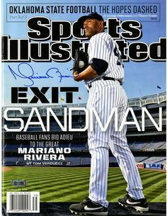 Mariano Rivera Signed Sports Illustrated Magazine Exit Sandman 9/23/2013 (No Label)