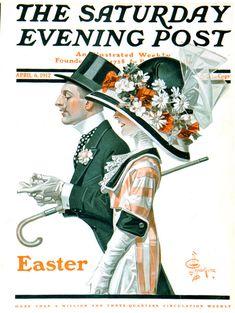 lostsplendor:  Easter Walk by J.C Leyendecker, April 6th, 1912(viaThe Saturday Evening Post)