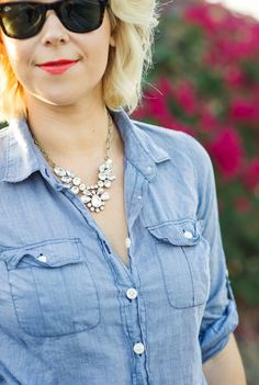 Jcrew sparkle and chambray Kacee from Life with Lipstick On