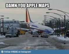 Damn you Apple Maps