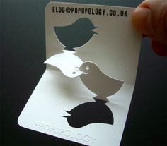 Business card tweet