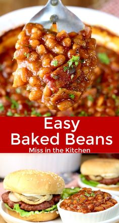 Easy Baked Beans are a must-have for any summer cookout, potluck or family get together. Made with a homemade barbecue sauce and loads of bacon for a the best flavor combination of smoky, savory and sweet. You won't find a tastier version! Side Dishes Easy, Vegetable Side Dishes, Side Dish Recipes, Dishes Recipes, Recipes Dinner, Best Baked Beans, Baked Beans With Bacon, Bacon Recipes, Grilling Recipes