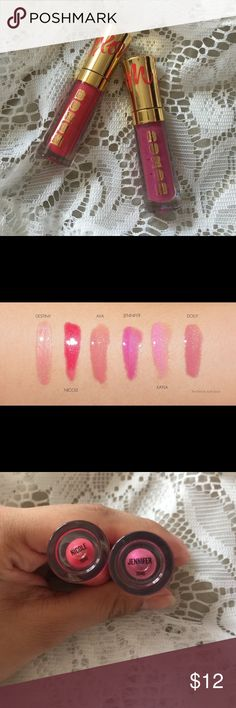 BUXOM MINI LIPGLOSSES NEW BEEN USED OR SWATCHED. They do have box unfortunately. I have the shades Jennifer and Nicole. Will sell individually for $8. Sephora Makeup Lip Balm & Gloss