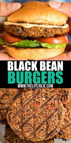 This Black Bean Burger recipe is so good, it'll turn even the biggest meat and potatoes lovers into Meatless Monday fans! Great flavor and minimal work makes these an easy and satisfying vegetarian dinner! Great Burger Recipes, Quick Dinner Recipes, Delicious Recipes, Meatless Burgers, Vegetarian Recipes Dinner, Ovo Vegetarian, Dump Meals, Dinner With Ground Beef, Black Bean Burgers