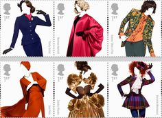 Royal Mail have just released the 'Great British Fashion' stamps collection.(3/4)