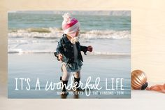 A Wonderful Life Holiday Photo Cards - pinned for card & photo idea