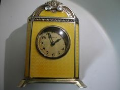 Enamel Swiss Miniature Carriage Clock