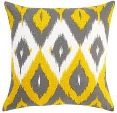 Ikat Citrine throw pillow