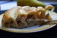 Слоеный пирог с яблоками и бананами