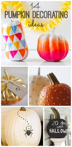 14 pumpkin decorating ideas!