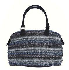 Immagine di Borsa in lana mohair multicolore di Marina D'Este