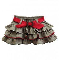 Khaki Ruffle Skirt